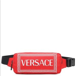 Versace 90s Vintage Red and White logo belt bag